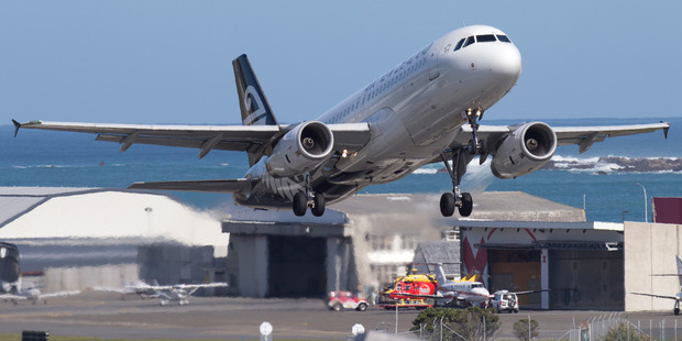 The Air New Zealand Airbus A320 was carrying 153 passengers and landed without incident. Photo / Mark Mitchell