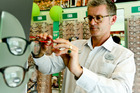 Mark Blades, co-owner of Specsavers Optometrists, Napier. Specsavers has won the right to the word