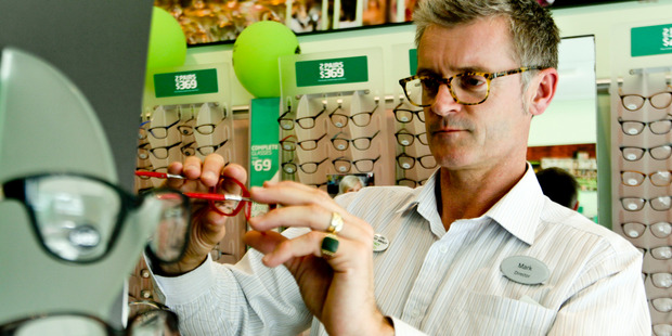 "Mark Blades, co-owner of Specsavers Optometrists, Napier. Specsavers has won the right to the word ""should've"". Photo / Hawke's Bay Today"