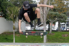 Local skater Vinnie Hutchinson claimed first place in Ramse Memorial skate competition at Jaycee Park in Kaitaia on Sunday morning.