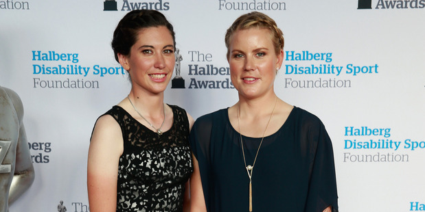 Loading Linda Villumsen (R) and Emma Trott (L) during the 2016 Halberg Awards at Vector Arena on February 18, 2016 in Auckland, New Zealand. Photo / Getty Images