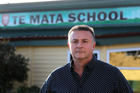 Principal Michael Bain outside Te Mata Primary School, one of the four Havelock North schools closing due to the gastro illness. PHOTO/File