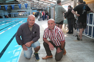 Greendale Swim Club committee spokesman Dave Gray (left) and Taradale Primary School principal Marty Hantz spoke yesterday on the importance of having a swimming pool in Taradale.
