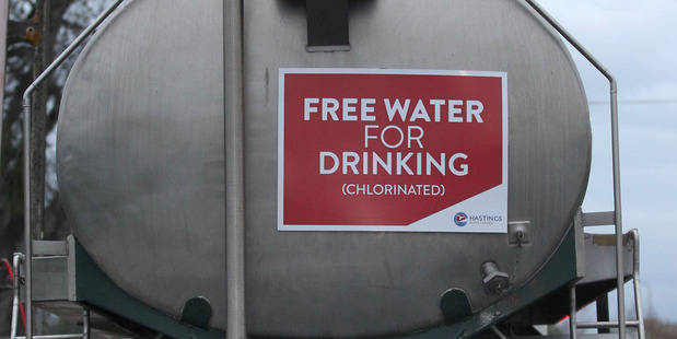 The tankers supplying water to Havelock North will be refilled this weekend.