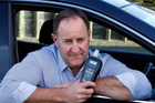 Gavin Foster, owner of Maungaturoto-based Smart Start Interlocks, showing an interlock device that has now been made compulsory for some drink-drivers. Photo / John  Stone