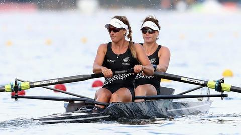 Women's pair power home to claim silver