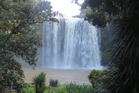 Four German tourists were happy to have their belongings returned after a disappointing visit to Whangarei Falls. PHOTO/FILE