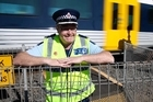 Rail Safety Week featuring Inspector Rod Honan at the Walters Road level crossing in Takanini.