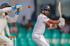 Sri Lanka's Dinesh Chandimal plays a shot against Australia the third test cricket match between them in Colombo, Sri Lanka. Photo / AP