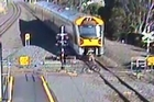 Compilation video from Kiwi Rail showing near-misses on train crossings for Rail Safety Week