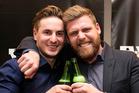 Sam and Emmet celebrate winning The Block NZ.
