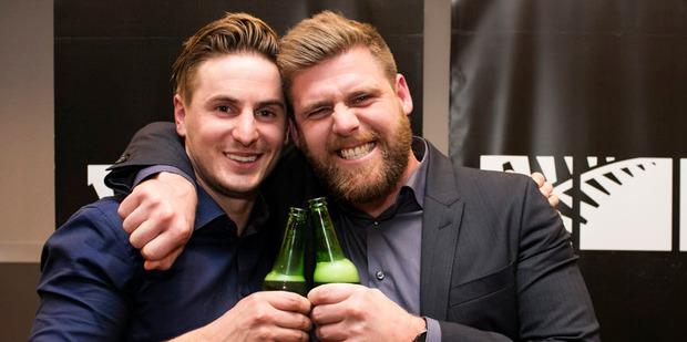 Loading Sam and Emmet celebrate winning The Block NZ.