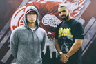 Eminem and Drake have knocked the rumours that they have beef with each other. Photo / Instagram