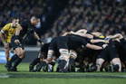All Blacks Halfback Aaron Smith feeds the scrum in the second match against Australia for the Bledisloe Cup at Eden Park last year.