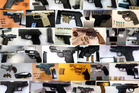 A TSA composite photo offers a look at some of the 78 firearms airport security officials said they captured in just one week at airports nationwide. Photo / TSA handout photo