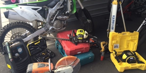 Police expect to lay further charges over the $25,000 worth of stolen goods found in a Flat Bush shed. Photo / Supplied