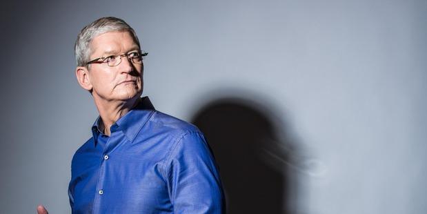 Apple chief executive Tim Cook. Photo / Andrew Burton