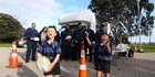 Watch: Cops keep an eye out at junior rugby match