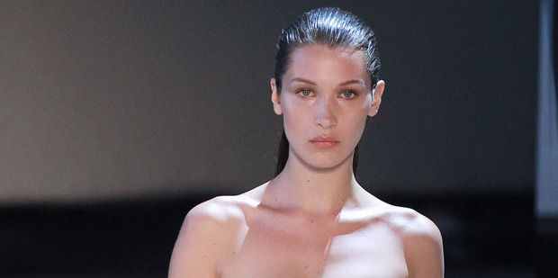 Bella Hadid walks the runway at Paris Fashion Week. Photo / Getty