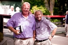Leading owner David Ellis and Bob Skelton discuss the yearlings on offer at the Karaka sales in January. Picture / Dean Purcell