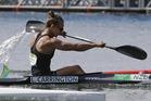 New Zealand's Lisa Carrington paddles for bronze during women's kayak single 500m final. Photo / AP
