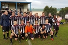 Kamo are elated after securing the 2016 Northland Premier Division title. Photo / Kamo Football Club