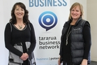 Angela Rule (left) and Louise Charlton of the Tararua Business Network, established by the Tararua District Council to provide direction and resources for businesses in the district. Photo / Christine McKay