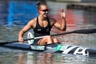 Kiwi kayak queen Lisa Carrington 'stoked' as she powers her way to back-to-back Olympic gold medals. Footage from Sky.