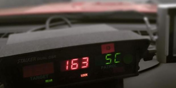A car has been caught driving at 163 km/h in thick fog on a Waikato highway this morning. Photo / Waikato District Police