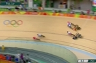 Footage from Sky.   Podmore spectacularly crashed out of her heat - she was unlucky to be caught up in the melee as three riders ahead of her first fell from their bikes - before finishing fifth in her repechage race, obviously affected by her big fall.