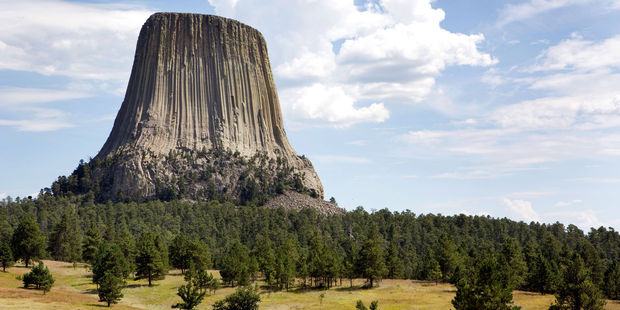 Loading The Devils Tower National Monument rises eerily above Wyoming's plains. Photo / 123RF