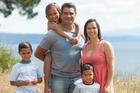 Daryl and Joanne Martin and their children, from left, Nikau, Maia and Taika.