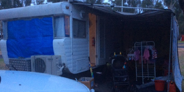 Andrew Kynaston lost his home and now lives in a caravan park. Photo / Supplied