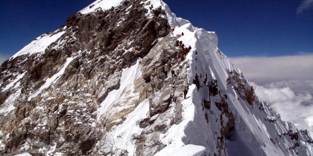 Left the Hillary Step this year, right the Hillary Step as it was prior to 2014. Photo / Facebook