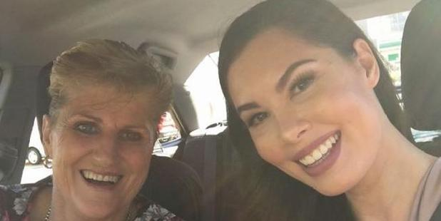 'Grandma Uber' Kathy with Amy, a happy customer. Photo / Facebook