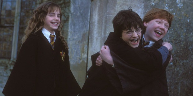 Even these guys are excited about the three new Harry Potter books written by JK Rowling.