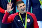 Legendary Olympic swimmer Michael Phelps. Photo / Photosport