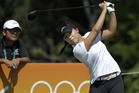 Lydia Ko in action during the opening round of the Olympic golf tournament. Photo / AP