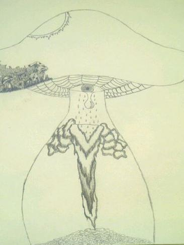 Lochte tweeted this drawing of a weeping illuminati eye volcano mushroom thing along with the caption: 'My new picture I'm drawing, still in progress but its gonna be sick!!! Jeah!!!' Source / Twitter