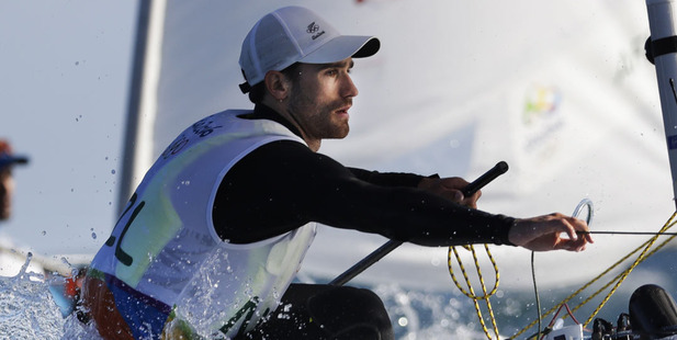 Loading New Zealand Laser sailor Sam Meech. Photo / AP