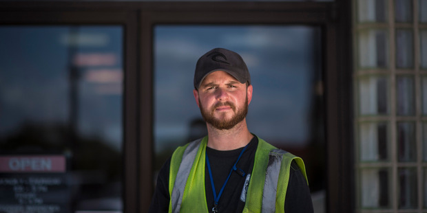 Wes Sumrell, 32, a longshoreman in Virginia, says he will vote for Donald Trump but does not believe he can be the country's 'savior'. Photo / The Washington Post