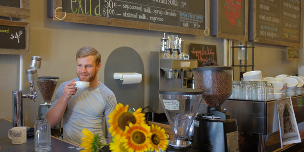 Derrick Wessels, 24, a barista in Colorado, says he does not think either presidential candidate can bring positive change to the country. Photo / The Washington Post