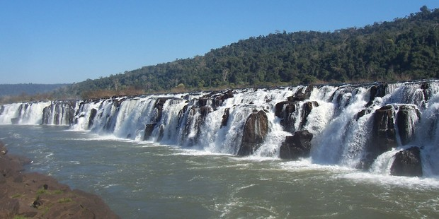 The Mocona Falls is in the northeast of Argentina, near the border with Brazil. Photo / Creative Commons image by Wikimedia user Leandro Kibisz