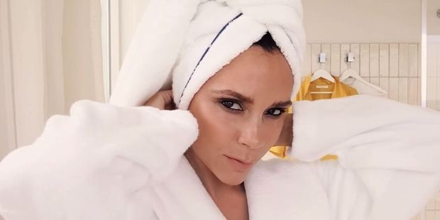 "Posh shows off her ""fresh-faced"" beauty look in a video for Vogue. Photo / YouTube, Vogue."