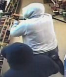 CCTV footage from the attempted robbery/. Photo/Supplied