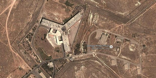 Loading Saydnaya Military Prison contains thousands of detainees. Photo / Google
