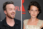 Aaron Paul lost his mind talking to Stranger Things star Millie Bobby Brown. Photos / Getty Images