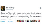 Bill Murray's Olympic wisdom ...