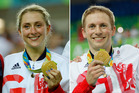 Great Britain cyclists Laura Trott and Jason Kenny have won five gold medals in Rio. photo / AP