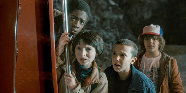 Loading The young cast of Stranger Things. Photo / Netflix